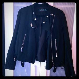 Black Moto Blazer by Ralph Lauren, Size 12